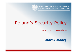 Poland's Security Policy M_Madej