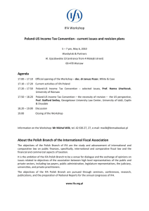 Poland-US Income Tax Convention - current issues and revision