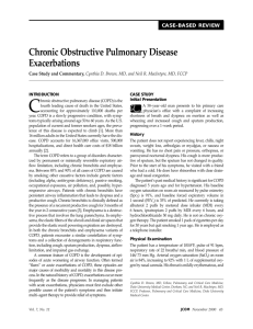 Chronic Obstructive Pulmonary Disease Exacerbations