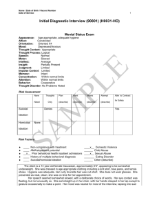Initial Diagnostic Interview (90801) (H0031-HO)