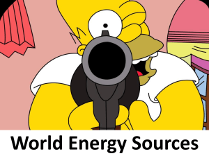 World Energy Sources - Southwest High School