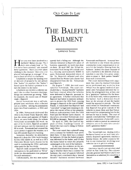 THE BALEFUL BAILMENT