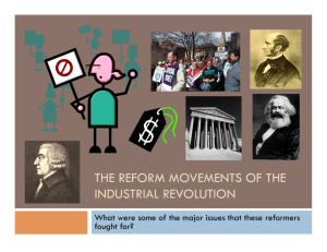 The Reform Movements of the Industrial Revolution