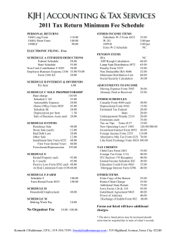 2011 Fee Schedule CPA - Kenneth J Haldeman CPA