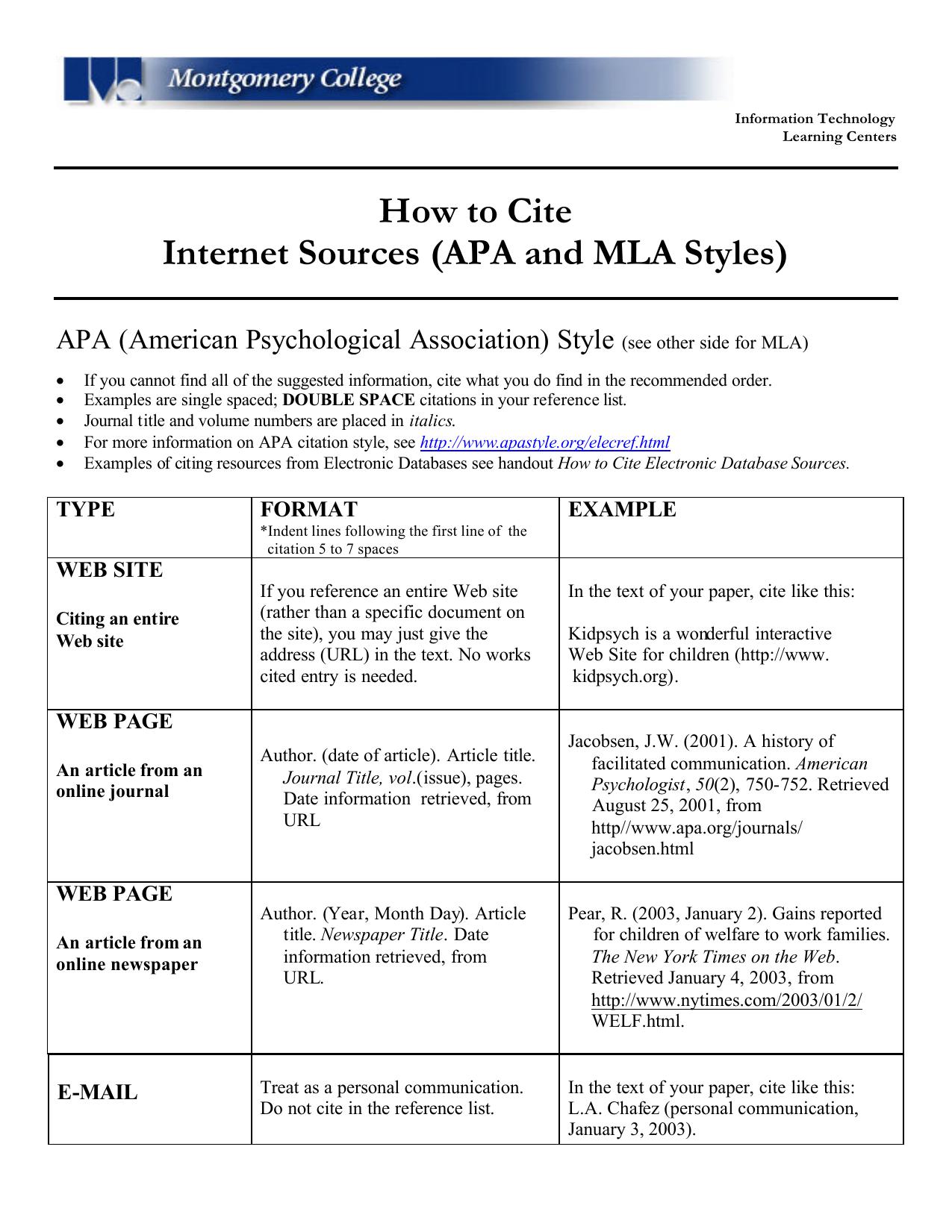 Essay formats student education services website