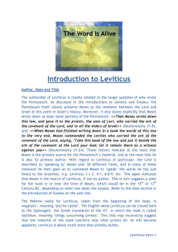 Introduction to Leviticus