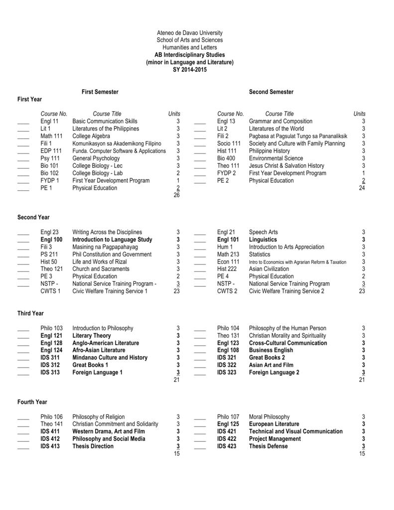 AB IDS-LL - Ateneo de Davao University