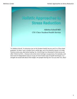 1 Wellness Center Holistic Approaches to Stress Reduction