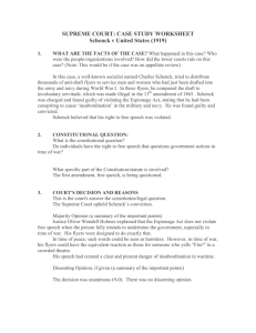SUPREME COURT: CASE STUDY WORKSHEET