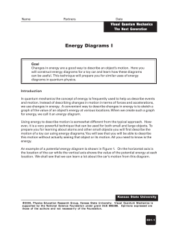 Energy Diagrams I - KSU Physics Education Research Group