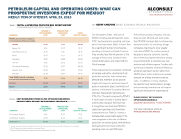 April 23: Petroleum Capital and Operating Costs: What Can