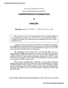 comprehensive examination english