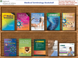 Medical Terminology Bookshelf