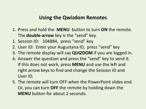 Using the Qwizdom Remotes