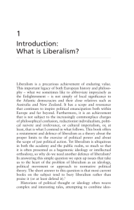 Introduction: What is Liberalism?