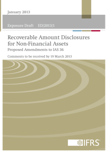 ED/2013/1 Recoverable Amount Disclosures for Non