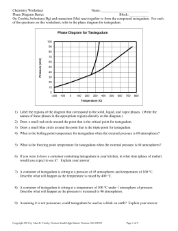Phase Diagram Worksheet - Daigneault (vachon) chemistry