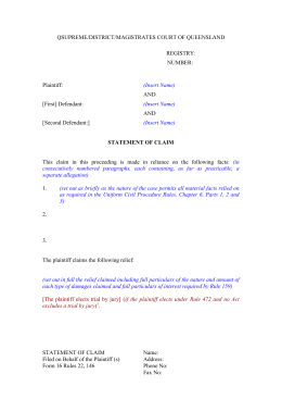 Uniform Civil Procedure Rules - Form 16