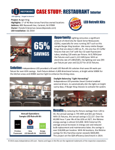 CASE STUDY: RESTAURANT Interior