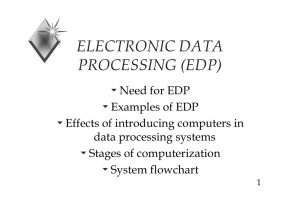 ELECTRONIC DATA PROCESSING (EDP)