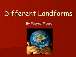 Different Landforms