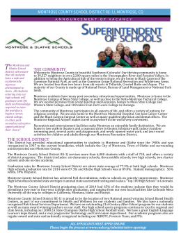 superintendent of schools - Colorado Association of School Boards