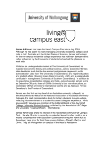 James Atkinson has been the Head, Campus East since July 2005