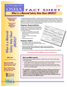 What is a Material Safety Data Sheet