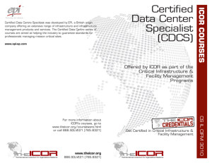 Certified Data Center Specialist (CDCS)