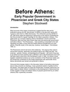 Before Athens: Early Popular Government in
