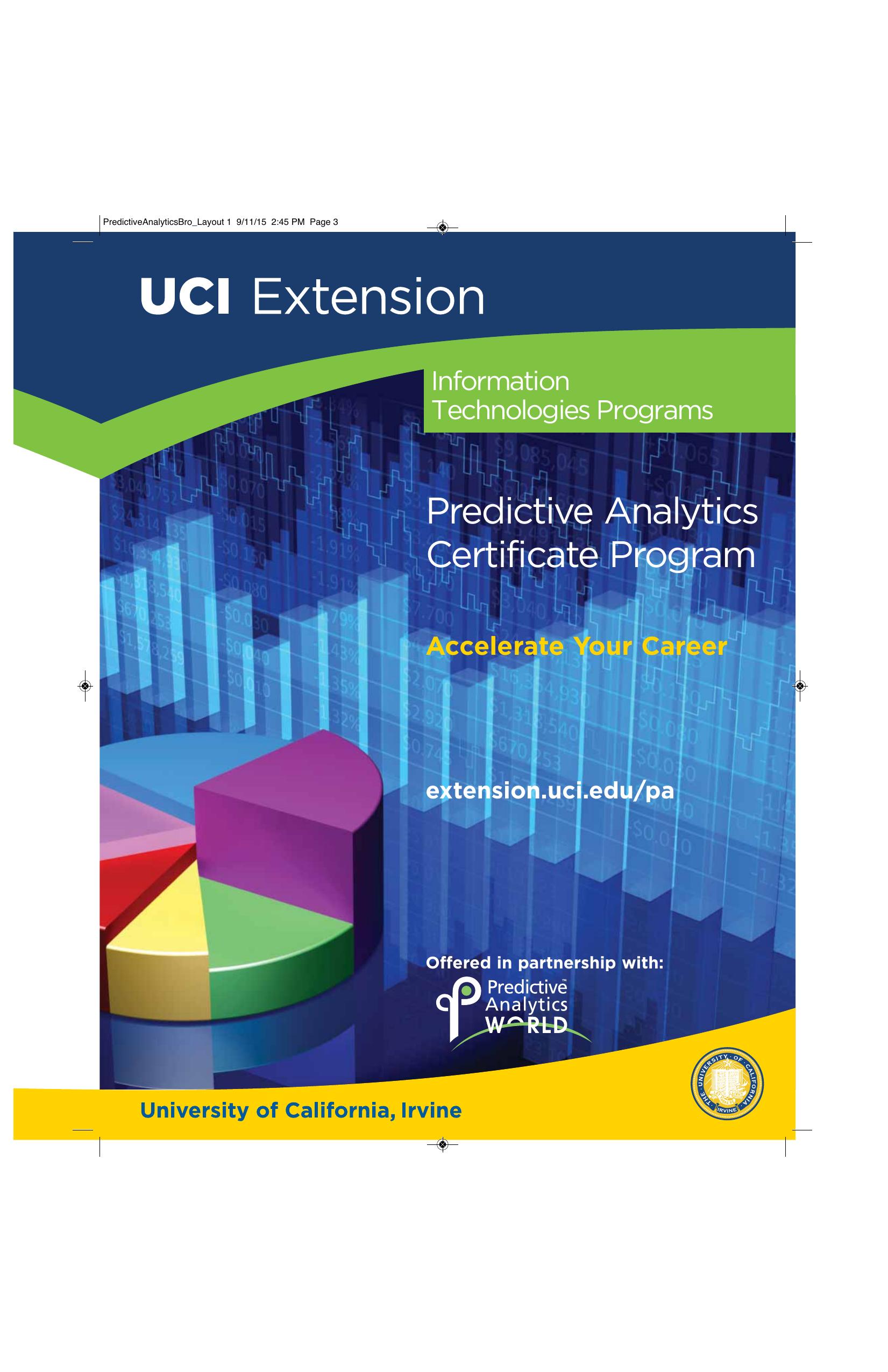 Predictive Analytics Brochure Uci Extension