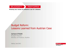Budget Reform: Lessons Learned from Austrian Case