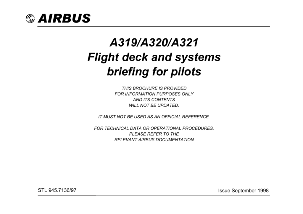 A319 A320 A321 Flight Deck and Systems Briefing for