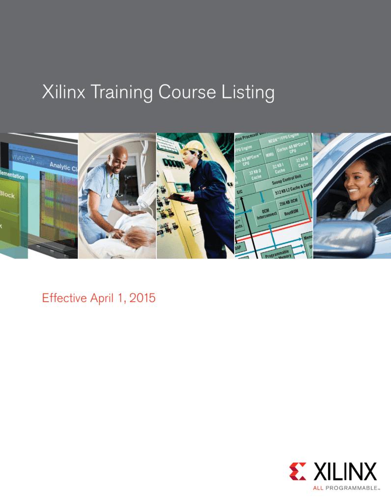 Xilinx Training Course Listing