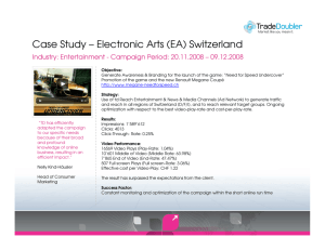 Case Study – Electronic Arts (EA) Switzerland