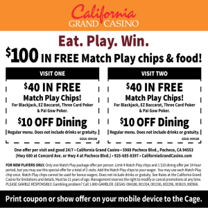 Eat. Play. Win. - California Grand Casino
