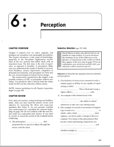 Chapter 6 Perception - Wheeler World Psych