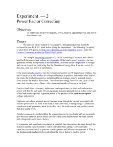Experiment 2: Power Factor Correction