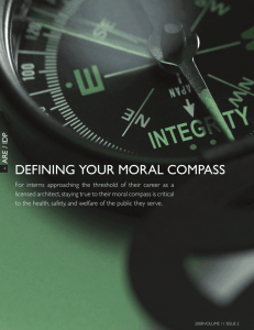 dEFiNiNg YouR moRAL ComPASS