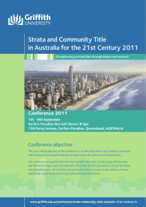 Strata and Community Title in Australia for the 21st Century 2011