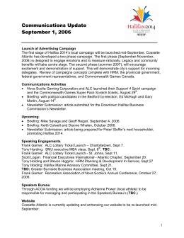 Communications Update September 1, 2006