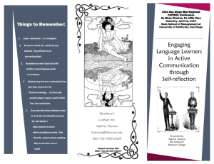 Engaging Language Learners in Active Communication through Self