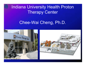 Indiana University Health Proton Therapy Center Chee