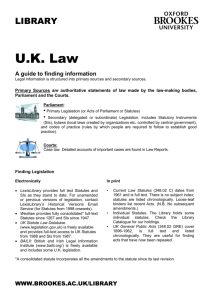 UK Law - Oxford Brookes University