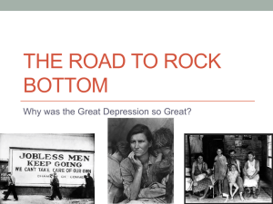 THE ROAD TO ROCK BOTTOM - MrWhitford-US