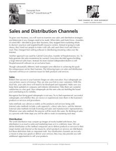 Sales and Distribution Channels