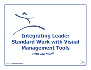 Integrating Leader Standard Work with Visual Management Tools