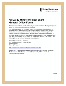 UCLA 20-Minute Medical Exam General Office Forms
