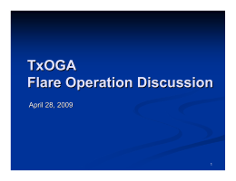 Flare Operation Discussion