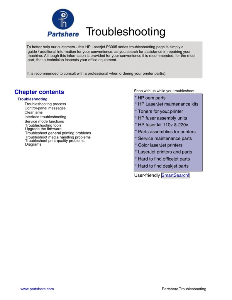 HP LaserJet P3005 Series Printers Service Manual - DESY
